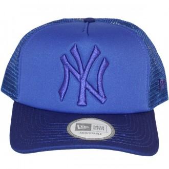 Casquette Trucker New Era - 9Forty MLB Tonal Clean Trucker - New York Yankees - Royal Blue