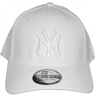 Casquette Trucker New Era - 39Thirty Stretch Fit MLB League Basic - New York Yankees - White