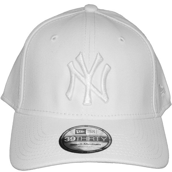 b40c8aa54540a Casquette Trucker New Era - 39Thirty Stretch Fit MLB League Basic - New  York Yankees - White