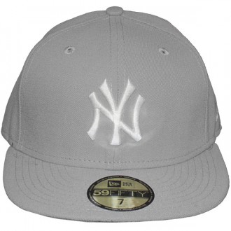 Casquette Fitted New Era - 59Fifty MLB Basic - New York Yankees - Grey/White
