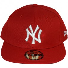 Casquette Fitted New Era - 59Fifty MLB Basic - New York Yankees - Red/White