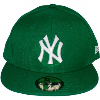 Casquette Fitted New Era - 59Fifty MLB Basic - New York Yankees - Kelly Green/White