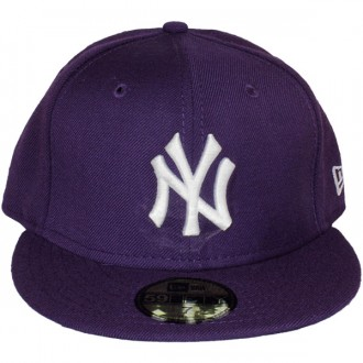 Casquette Fitted New Era - 59Fifty MLB Basic - New York Yankees - Purple/White