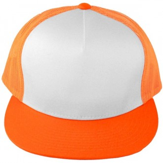 Casquette Filet Yupoong - Orange / Front blanc