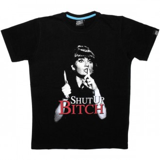 T-shirt Space Monkeys - Shut Up Tee - Black