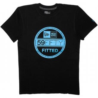 T-shirt New Era - Basic Visor Tee - Black/Vice Blue