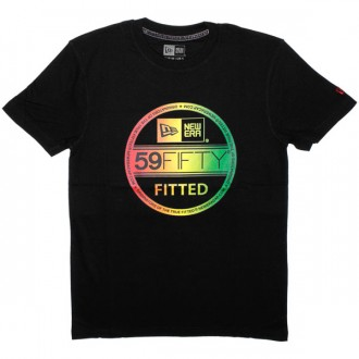 T-shirt New Era - Gradient Visor Tee - Black/Rasta