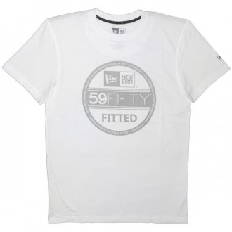 T-shirt New Era - Basic Visor Tee - White/Cool Grey