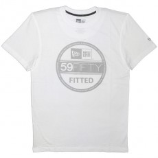 T-shirt New Era - Basic Visor Tee - White/Cool Grey