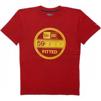 T-shirt New Era - Basic Visor Tee - Red/Yellow