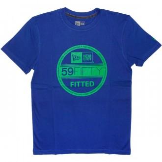 T-shirt New Era - Basic Visor Tee - Royal Blue/Kelly Green