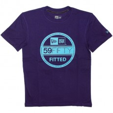 T-shirt New Era - Basic Visor Tee - Purple/Vice Blue