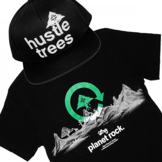 Ensemble Tee+Cap LRG Hustle Trees - Black
