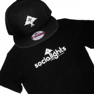 Ensemble Tee+Cap LRG Socialights - Black