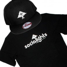 Ensemble Tee+Cap LRG Socialights - Black