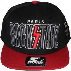 Casquette Snapback Jessilann x Starter - Rackstarz - Black/Red