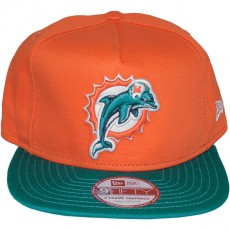 Casquette Snapback New Era - 9Fifty NFL Reverse Team Logo - Miami Dolphins
