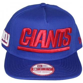 Casquette Snapback New Era - 9Fifty NFL Wordmark Team Flip - New York Giants