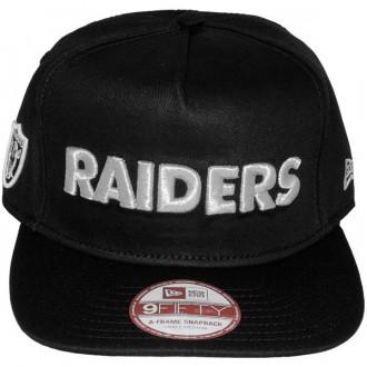 Casquette Snapback New Era - 9Fifty NFL Wordmark Team Flip - Oakland Raiders