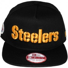 Casquette Snapback New Era - 9Fifty NFL Wordmark Team Flip - Pittsburgh Steelers