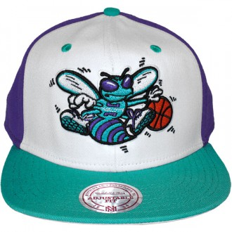 Casquette Snapback Mitchell & Ness - NBA High Crown - Charlotte Hornets