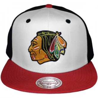 Casquette Snapback Mitchell & Ness - NHL High Crown - Chicago Blackhawks