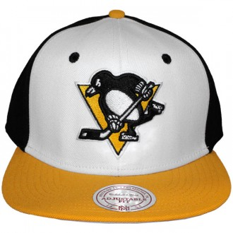 Casquette Snapback Mitchell & Ness - NHL High Crown - Pittsburgh Penguins