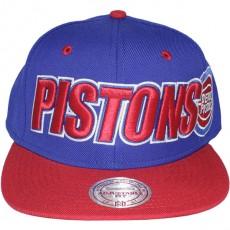 Casquette Snapback Mitchell & Ness - NBA Logo & Wordmark - Detroit Pistons