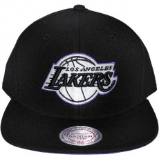 Casquette Snapback Mitchell & Ness - NBA Vintage Black & White Logo - Los Angeles Lakers