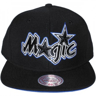 Casquette Snapback Mitchell & Ness - NBA Vintage Black & White Logo - Orlando Magic