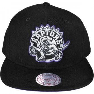 Casquette Snapback Mitchell & Ness - NBA Vintage Black & White Logo - Toronto Raptors