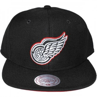 Casquette Snapback Mitchell & Ness - NHL Vintage Black & White Logo - Detroit Red Wings