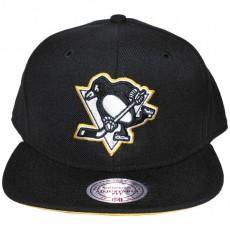 Casquette Snapback Mitchell & Ness - NHL Vintage Black & White Logo - Pittsburgh Penguins