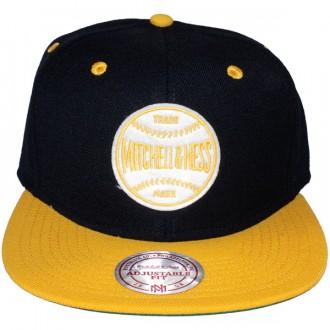 Casquette Snapback Mitchell & Ness - Baseball Logo - Black/Yellow