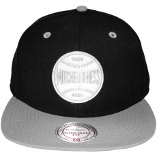 Casquette Snapback Mitchell & Ness - Baseball Logo - Black/Grey
