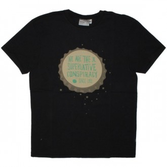 WESC T-shirt - Bottle Cap Men's - Black