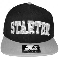 Casquette Snapback Starter - 2 College Arch - Black/Grey