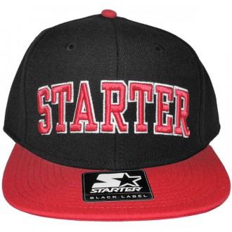 Casquette Snapback Starter - 2 College Arch - Black/Red