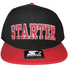 Casquette Snapback Starter - 2 College Arch - Black/Red