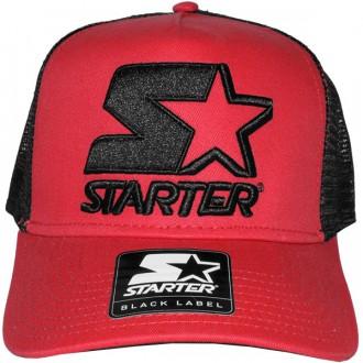 Casquette Trucker Starter - Basic Logo Trucker - Red/Black