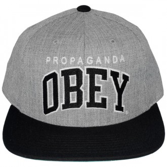 Casquette Snapback Obey - Throwback - Heather Grey-Black