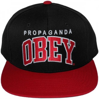 Casquette Snapback Obey - Throwback - Black-Red