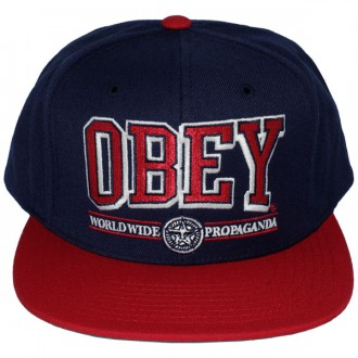 Casquette Snapback Obey - Obey Athletics - Navy-Red
