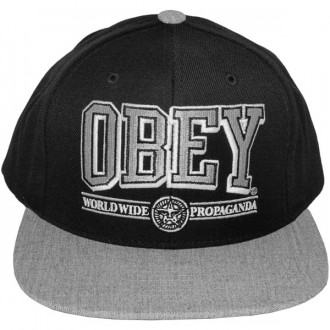 Casquette Snapback Obey - Obey Athletics - Black-Heather Grey