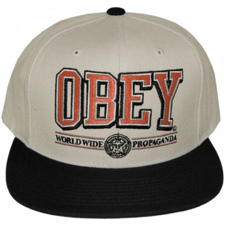 Casquette Snapback Obey - Obey Athletics - Natural-Black