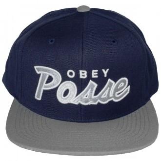 Casquette Snapback Obey - Obey Posse Snap - Navy-Grey
