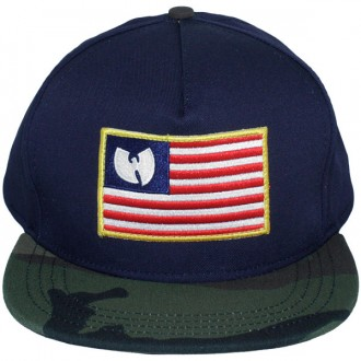 Casquette Snapback Wu-Tang - Iron Flag snapback - Navy blue