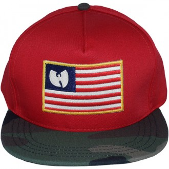 Casquette Snapback Wu-Tang - Iron Flag snapback - Red