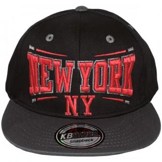 Casquette Snapback KB Ethos - New York NY - Noir / Gris / Vert