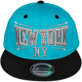Casquette Snapback KB Ethos - New York NY - Turquoise / Noir / Vert